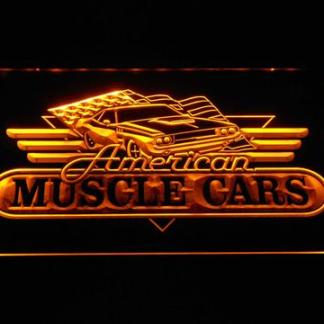American Muscle Cars neon sign LED