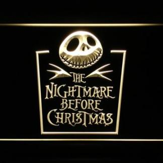 Nightmare Before Christmas Tombstone neon sign LED