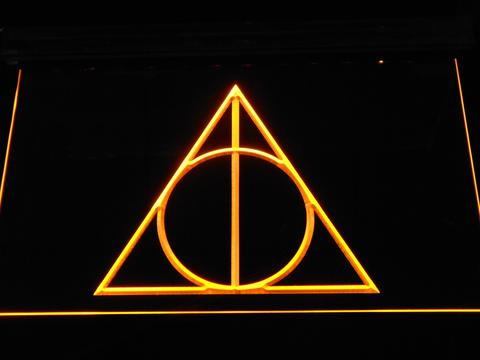 Harry Potter Deathly Hallows Logo Neon Sign Led Sign Shop
