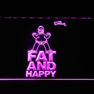 The Simpsons Fat and Happy neon sign LED