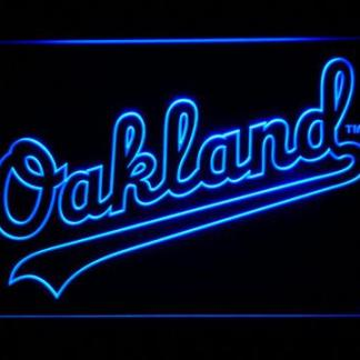 Oakland Athletics Oakland Wordmark neon sign LED