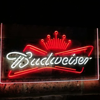 Budweiser King Beer Bar Decoration Gift Dual Color Led Neon Sign neon sign LED