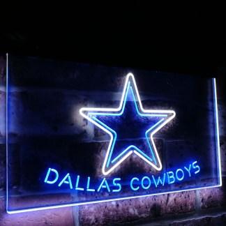 Dallas Cowboys Star Football Bar Decor Dual Color Led Neon Sign neon sign LED