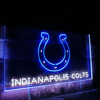 Indianapolis Colts Football Bar Decor Dual Color Led Neon Sign neon sign LED