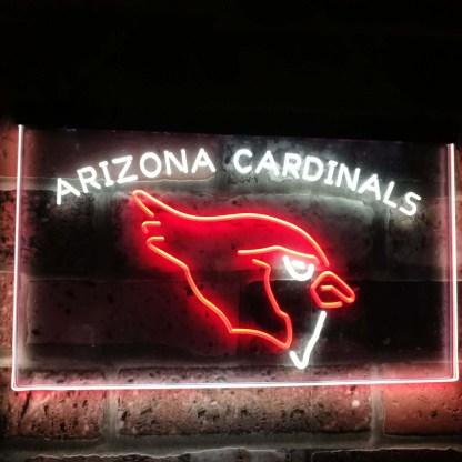 Arizona Cardinals Football Bar Decor Dual Color Led Neon Sign neon sign LED