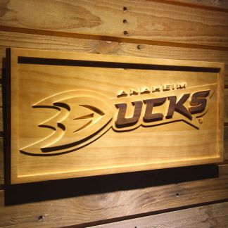 Anaheim Ducks Wood Sign neon sign LED