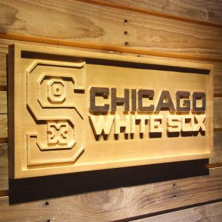 Chicago White Sox 1943-1946 Wood Sign - Legacy Edition neon sign LED