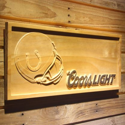 Indianapolis Colts Coors Light Helmet Wood Sign neon sign LED