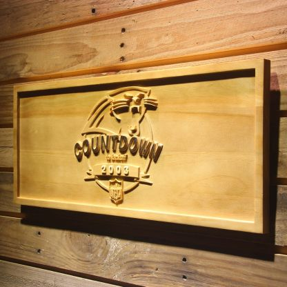 Carolina Panthers Countdown to Kickoff Wood Sign - Legacy Edition neon sign LED