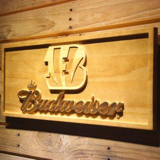 Cincinnati Bengals Budweiser Wood Sign neon sign LED