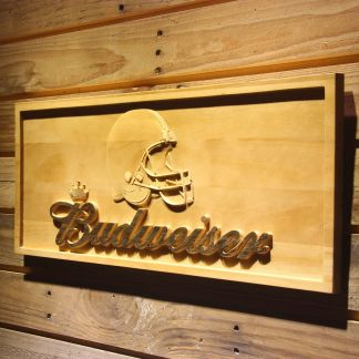 Cleveland Browns Budweiser Wood Sign neon sign LED