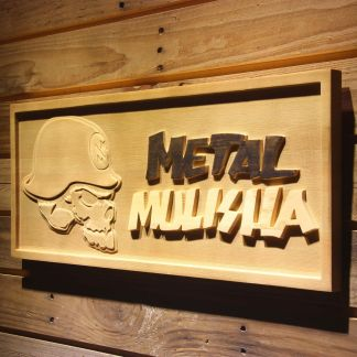 Metal Mulisha Skull Logo Wood Sign neon sign LED