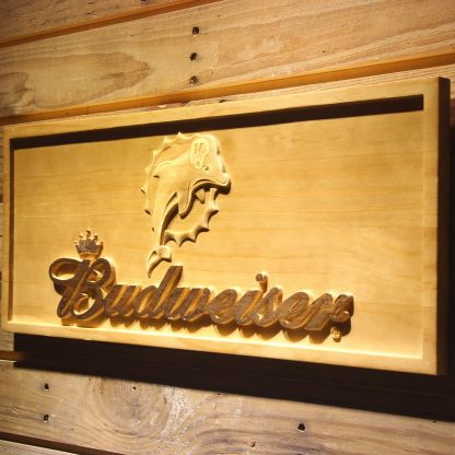 Miami Dolphins Budweiser Wood Sign - Legacy Edition neon sign LED