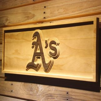 Oakland Athletics A`s Logo Wood Sign neon sign LED