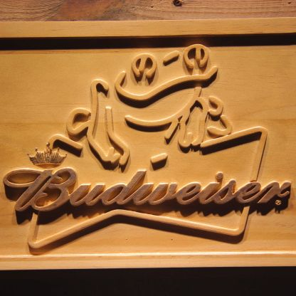 Budweiser Frog Wood Sign neon sign LED