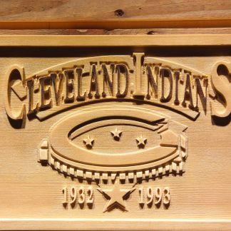 Cleveland Indians Cleveland Municipal Stadium Wood Sign - Legacy Edition neon sign LED