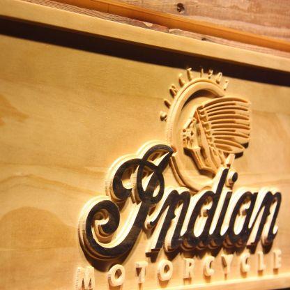 Indian Old Logo Wood Sign neon sign LED