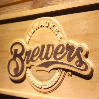 Milwaukee Brewers Wood Sign neon sign LED