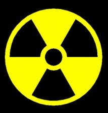 graphic logo warning for electromagnetic radiation