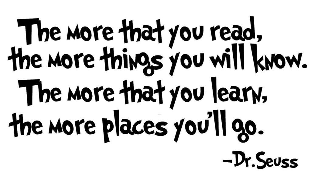 dr seuss quote, read
