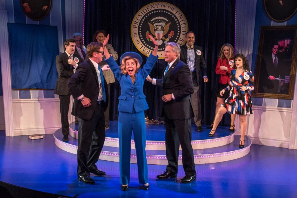 This off-Broadway show has talent, wit, politics, and a cast that's sure to  blow you out of the water.