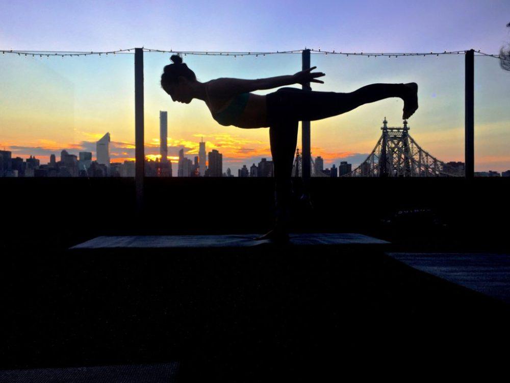 dina ivas, wtd, doost, rooftop, yoga, manhattan
