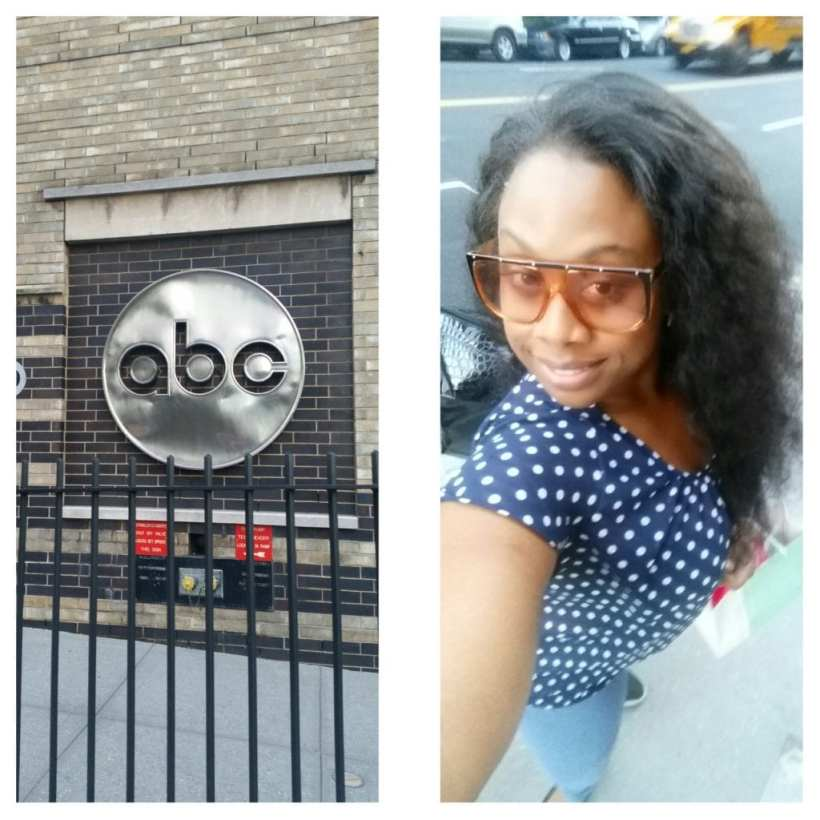 Arriving at ABC Studios to tape Dr. OZ wearing my favorite Gucci sunglasses and polka dot blouse by Qurvii.