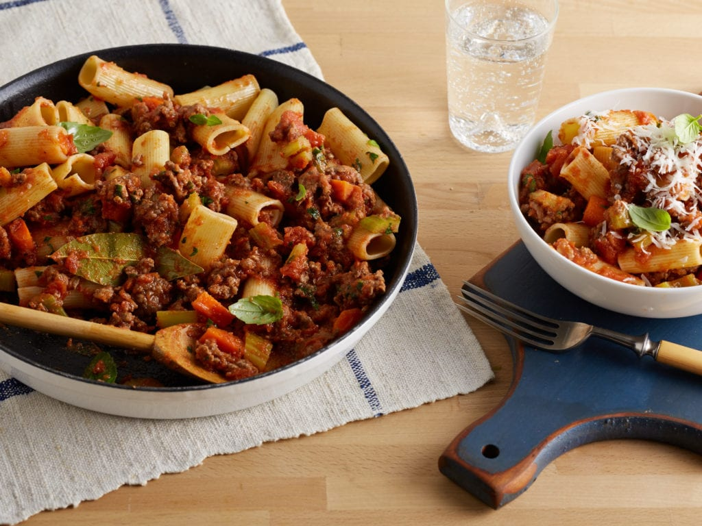 The traditional italian recipe to rigatoni bolognese photo courtesy of the food network forumfinder Choice Image