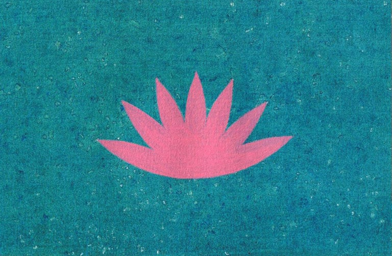 pink-lotus-on-blue-painting