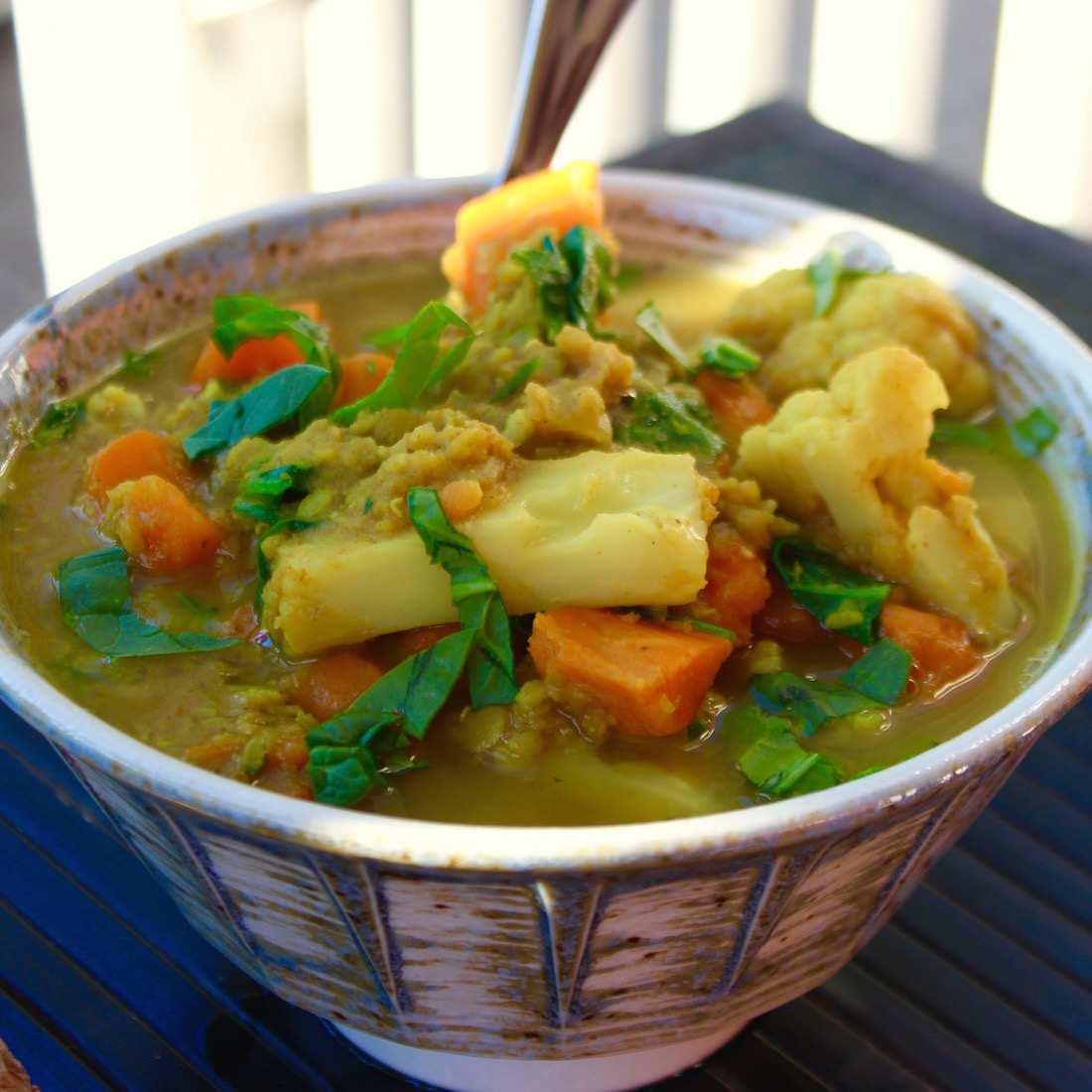 Indian Lentil Cauliflower Soup