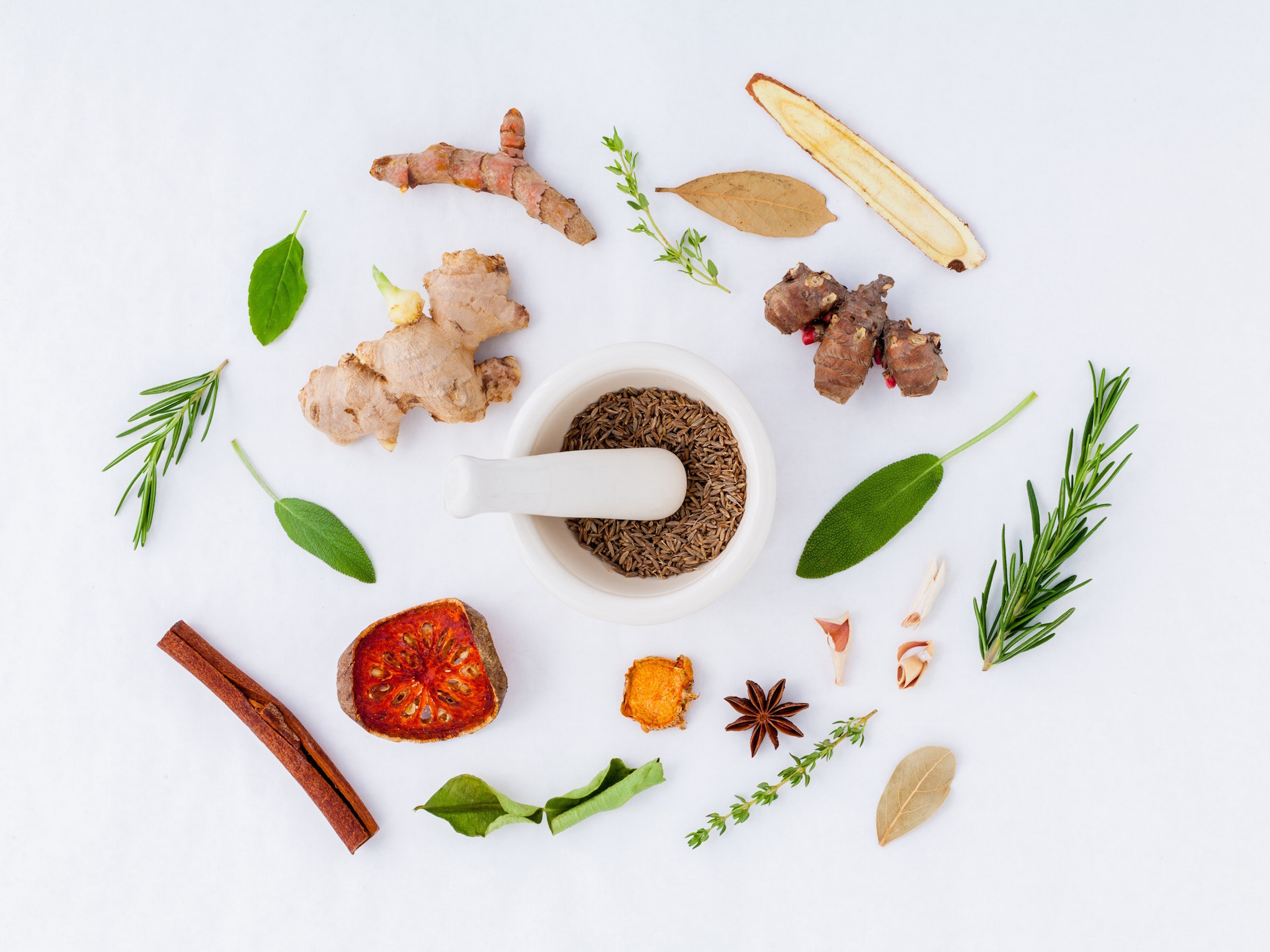 spices in a naturopathic kitchen