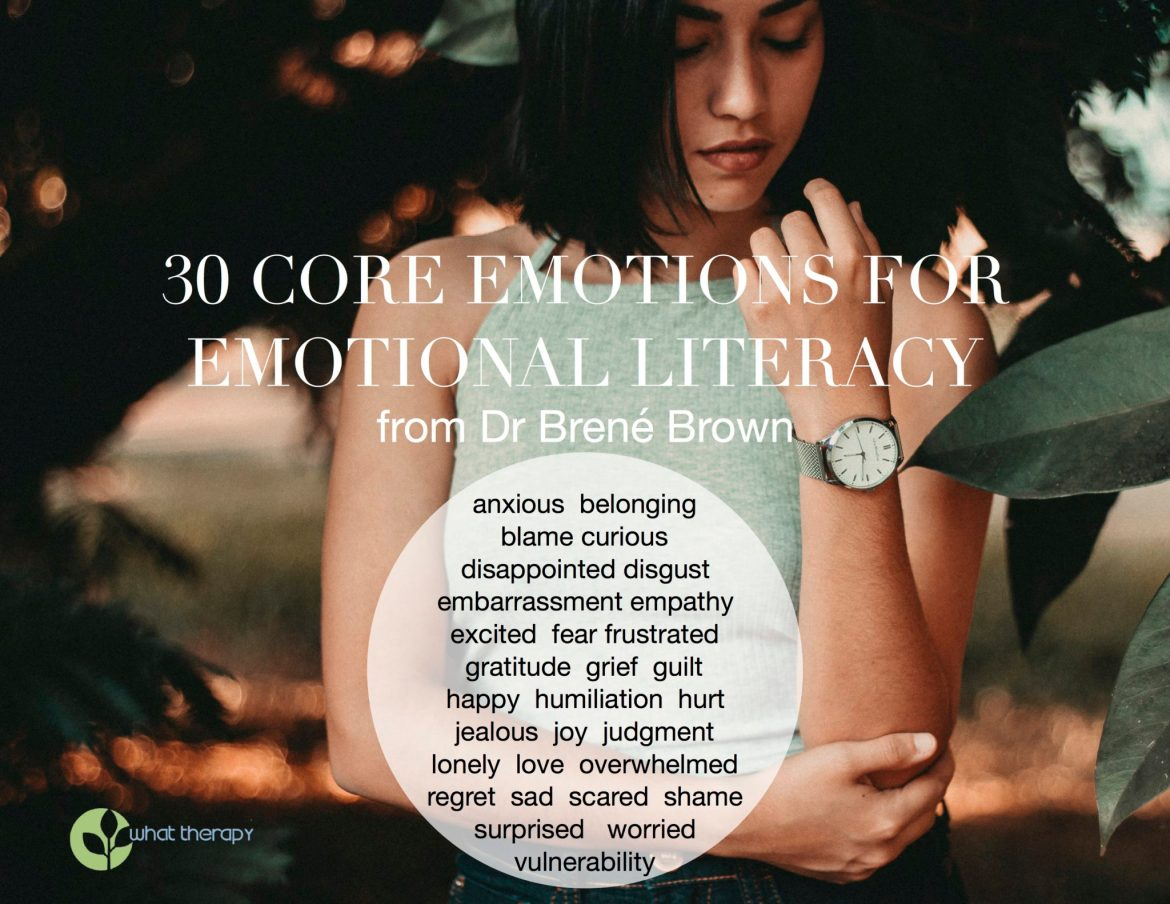 30 Core Emotions for Emotional Literacy