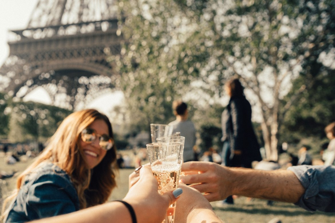 Champagne at the Eiffel Tower