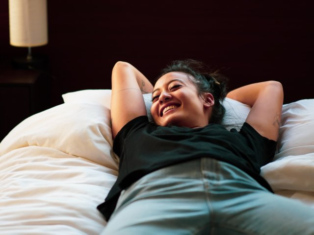 Rub Your Belly for Stress Relief Stock Photo by Ducminh Nguyen