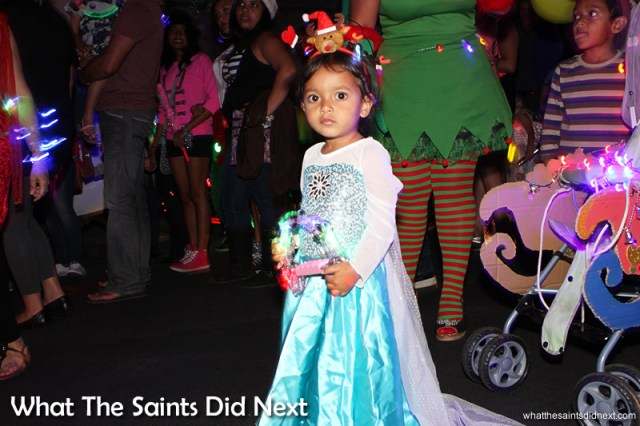 Frozen's Princess Elsa made an appearance on the night - St Helena Festival of Lights 2014