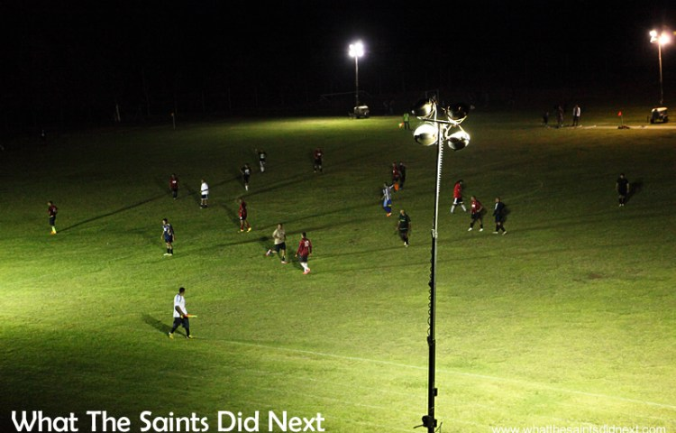 Football on St Helena – First Game Under Floodlights