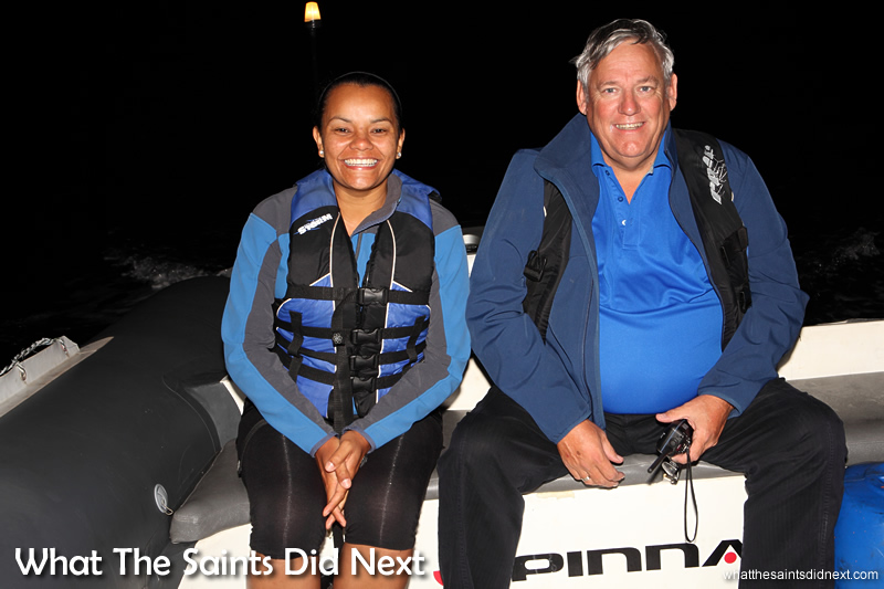 Race officials, Julie George (St Helena Yacht Club) and Bram Weller (False Bay Yacht Club).