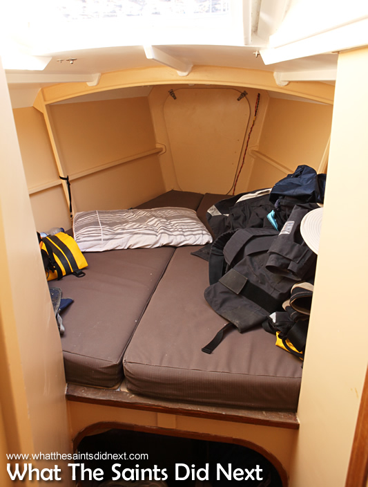 The noisy bunk in the bow.