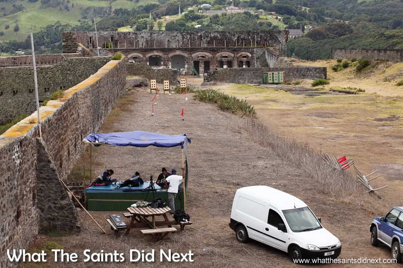 The St Helena National Trust has allowed a temporary 50m and 100yd range to be set up inside High Knoll Fort. Rifle Shooting On St Helena.