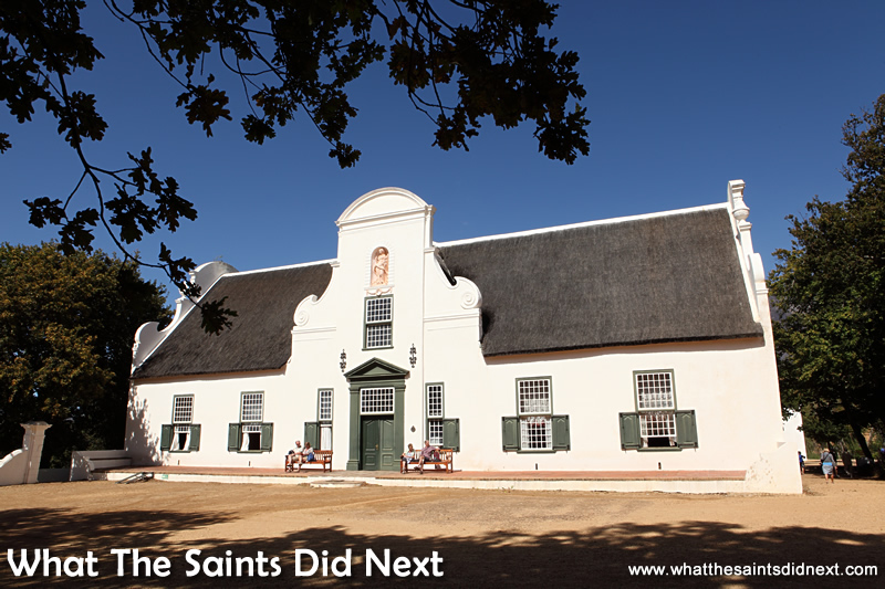 The Groot Constantia homestead dates back to the 17th century. It is now part of a museum.