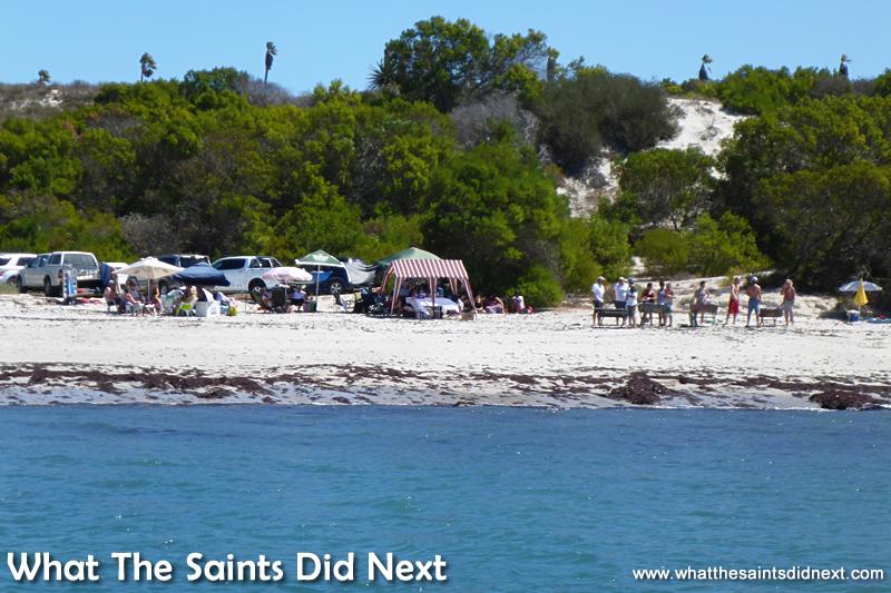 The Port Owen Yacht Club's social on the beach. Sailing St Helena Bay.