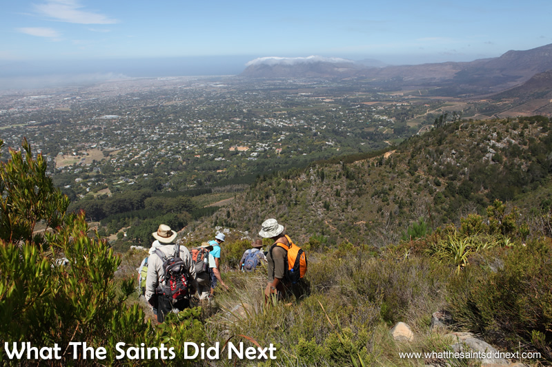 The descent of the Constantia Nek hike trail.