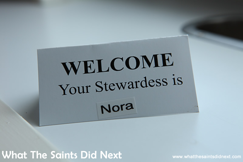 Your Stewardess is Nora.