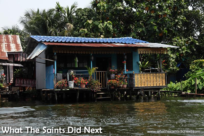 Bangkok Long Tail Boat tour - more waterfront property.