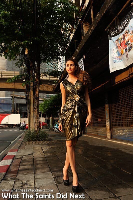Walking tall in Bangkok.