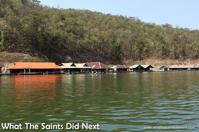 Passing other holiday homes along the lake which had been there longer. Mountain Float - Thailand's Secret Holiday Hideaway.