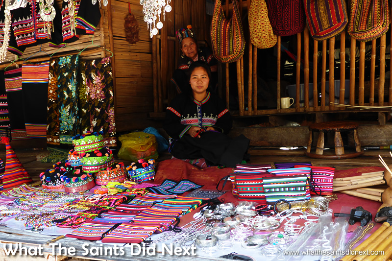 Souvenirs at Baan Tong Luang tourism village, although not everything is local craftwork.