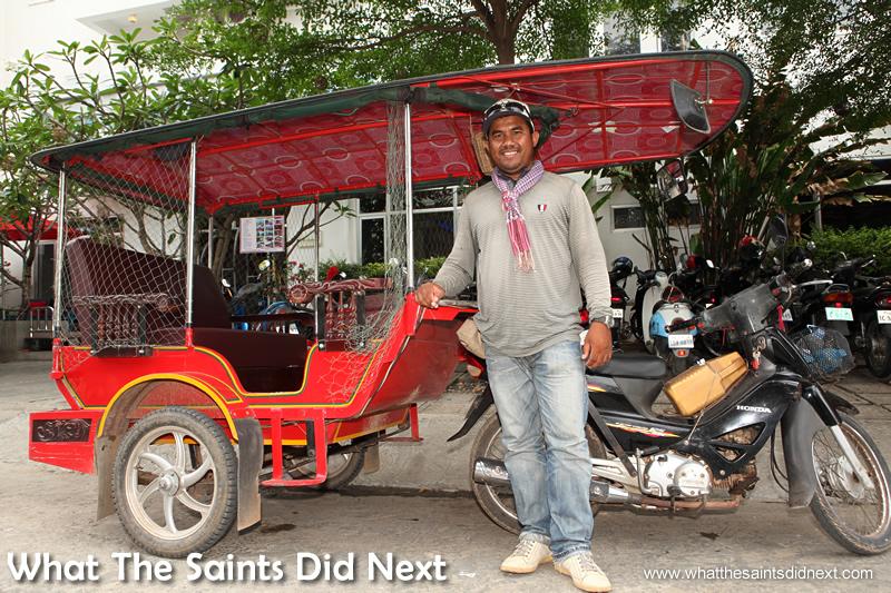 Nim Chantra, best tuk tuk driver in Phnom Penh, Cambodia.