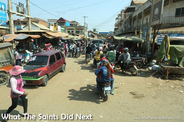 The streets become less 'formal' the further you move away from the city centre. Walking the streets of Phnom Penh.