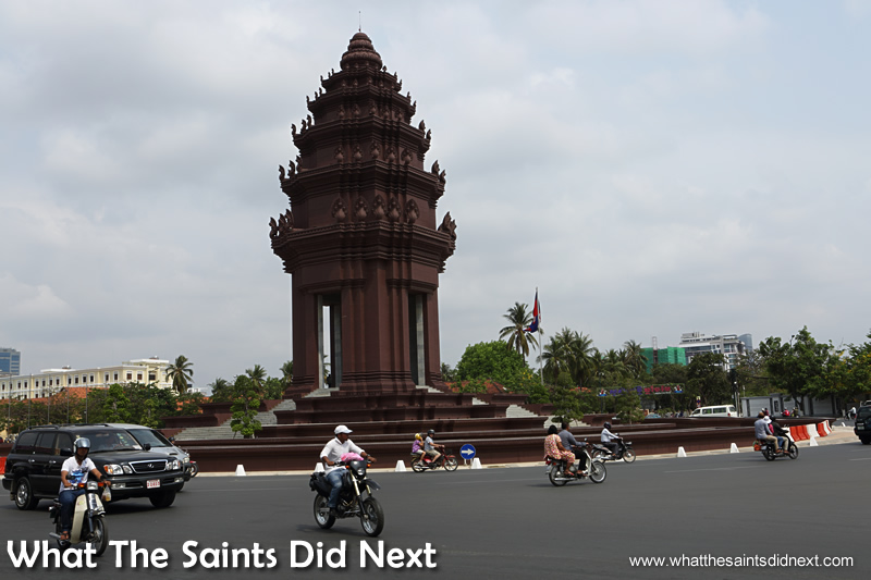 Victory Monument. Walking The Streets Of Phnom Penh.